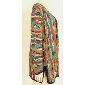 COOGI Sweaters - COOGI-sweater-SZ-M-100-silk-cardigan-brilliant-co